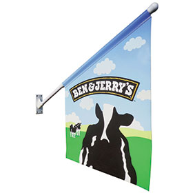Wall Mounted Flag Kit - Ben and Jerrys