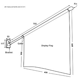 Diagram of Standard Flag Kit