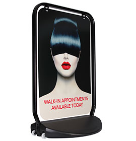 Swinger 4000 Black Frame Panel Hairdressers