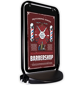 Swinger 4000 Black Frame Poster Pocket Barbers