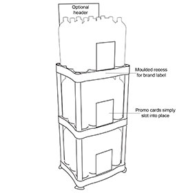 Diagram of Tiered Product Display Rack