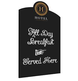 Hotel Wall Chalkboard Custom Shape
