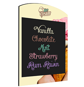 Ice Cream Wall Chalkboard Rounded Top