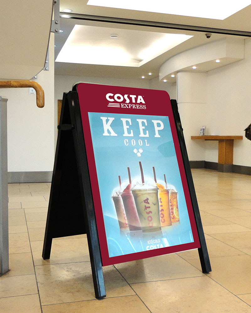 Costa Coffee Bespoke Design Pavement Sign A-Board
