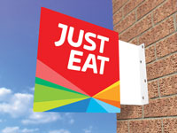 Just Eat Flange sign